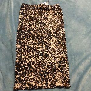 Love culture leopard print pencil skirt